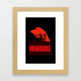 Vulnerable Komodo Dragon Framed Art Print