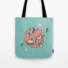 Music Fun / Tambourine / Green & Pink Tote Bag