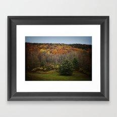 October Mountain Forest Framed Art Print