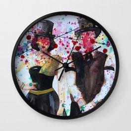 SteamPunk Couple Wall Clock