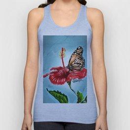 Butterfly on flower 2 Unisex Tank Top