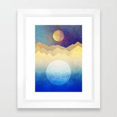 The sun and the moon Framed Art Print