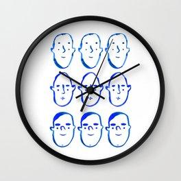 Blue Faces Wall Clock