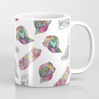 hologram Mugs featuring watercolor back to the future 2 by Sarah Brust