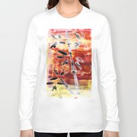 bamboo Long Sleeve T-shirts featuring bamboo by Kras Arts - Fly Me To The Moon