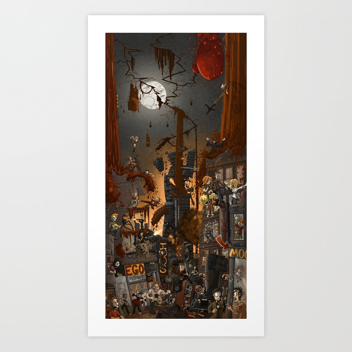Fracture in the sky Art Print