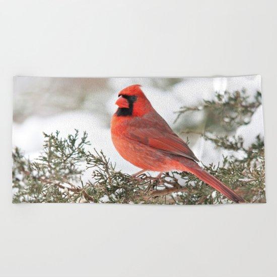 Regal Cardinal Beach Towel