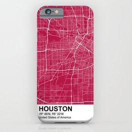 houston Texas city map color iPhone Case