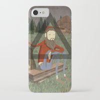 bon iver iPhone & iPod Cases featuring Bon Iver by Doug Crookston