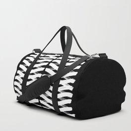 Zigzag white Duffle Bag