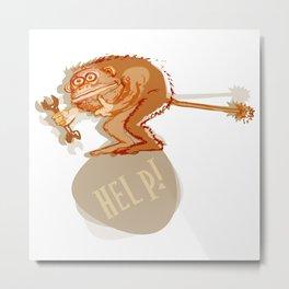 Help monkey Metal Print