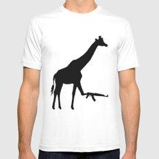 giraffe Mens Fitted Tee White MEDIUM
