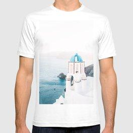 Santorini Greece Mamma Mia Church Photography T-shirt