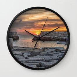 Sunset at Lanes cove 5-5-18 Wall Clock