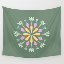 Vegetable Mandala Wall Tapestry