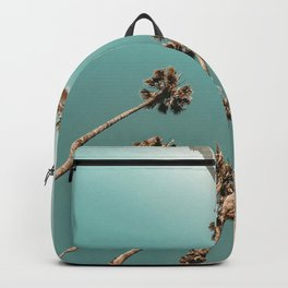 {1 of 2} Palm Trees = Happy // Teal Summer Sky Backpack