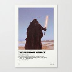Phantom Menace Alternative Vintage Poster Canvas Print