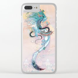 Journeying Spirit (ermine) Clear iPhone Case