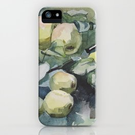 Watercolor ripe apples iPhone Case