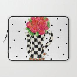Teapot Roses Laptop Sleeve