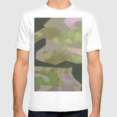 Camouflage II White Mens Fitted Tee MEDIUM