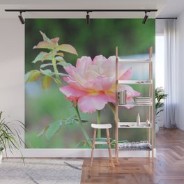 Pink Gold Rose Wall Mural
