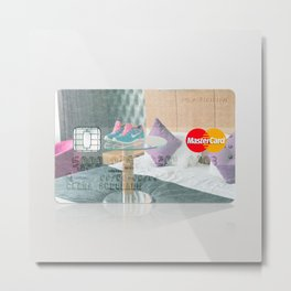 Hotel Room in London:Close to Nike Town Credit Card Metal Print