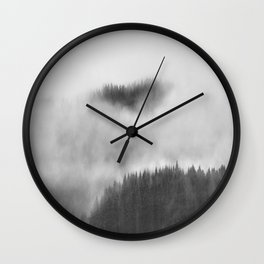 Cloud forest Wall Clock