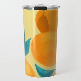 Oranges on yellow Travel Mug