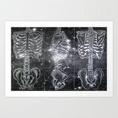 Space Bones Art Print