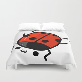 Ladybug Bby   Veronica Nagorny Duvet Cover