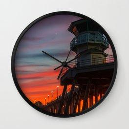 Fading Fire Wall Clock