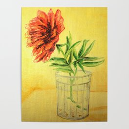 flower in a glass . illustration  ( https://society6.com/totalflora/collection ) Poster
