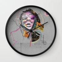 stevie nicks Wall Clocks featuring Stevie Wonder by Fitacola