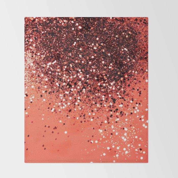 Cali Summer Vibes Lady Glitter #8 #shiny #decor #art #society6 Throw Blanket