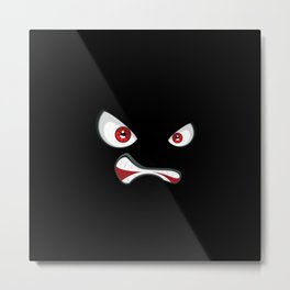Angry face with red eyes Metal Print
