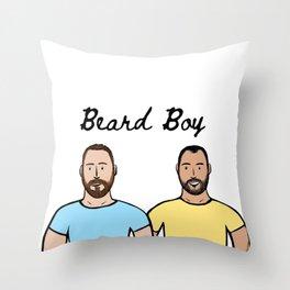Beard Boy: Spring has sprung Throw Pillow