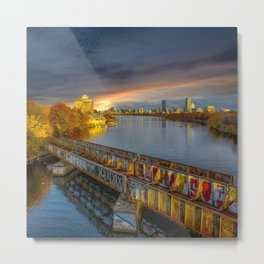Graffiti bridge Metal Print