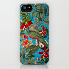 Vintage & Shabby Chic - Tropical Birds and Orchid  Aloha Jungle Flower Garden iPhone Case
