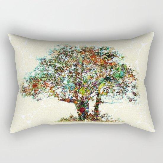 Tree Mosaic Rectangular Pillow