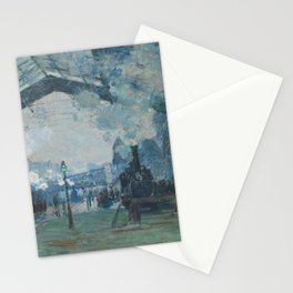 Claude Monet - Arrival of the Normandy Train Stationery Cards