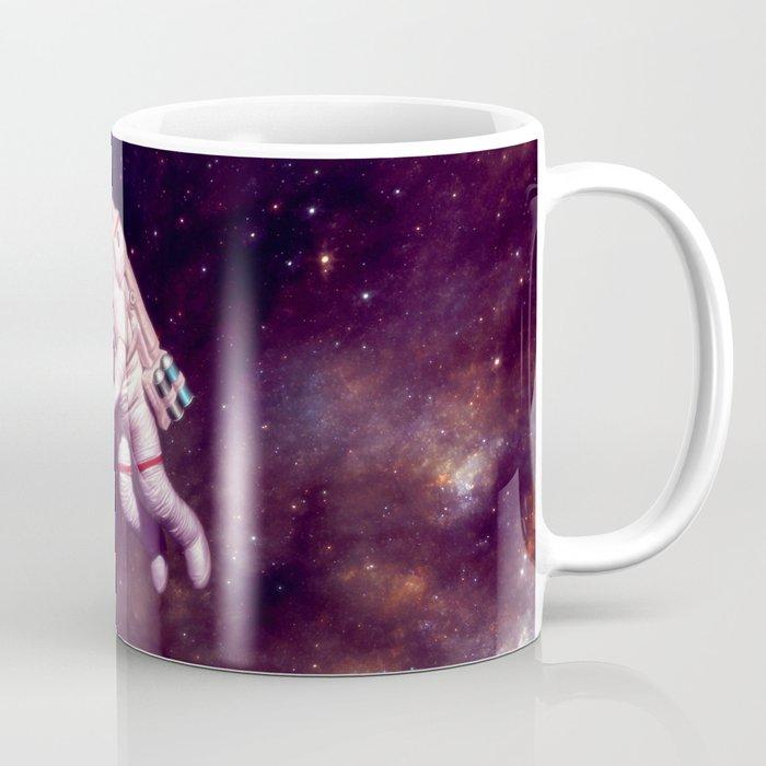 """Shooting Stars"" - Astronaut Artist Coffee Mug"