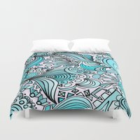 crystal Duvet Covers featuring Crystal by DuckyB