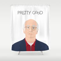 seinfeld Shower Curtains featuring Larry David // Curb Your Enthusiasm // Graphic Design // Seinfeld by Dick Smith Designs
