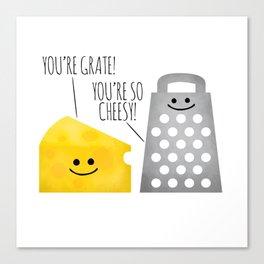 Cheesy Couple Canvas Print