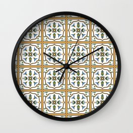 Portuguese Tile Pattern - Traditional Azulejos of Portugal Wall Clock