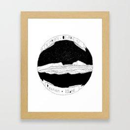 N'importe où mais ici Framed Art Print