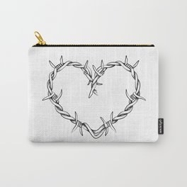Heart shape of barbed wire Carry-All Pouch