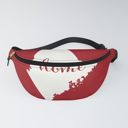 Maine is Home - Red on White Fanny Pack