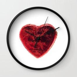 grunge heart vlntines design Wall Clock